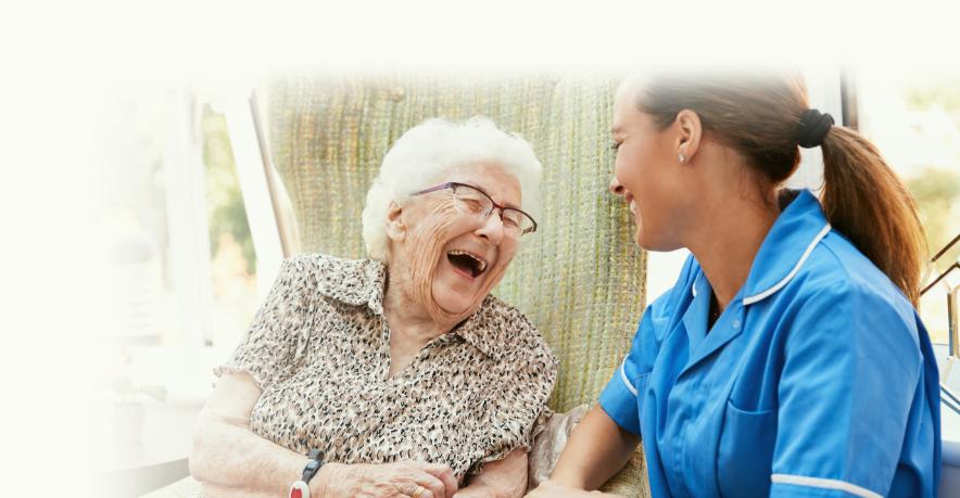 senior care mobile banner